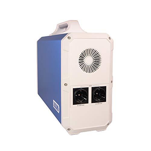 Kirron Powerstation EB240 I Tragbarer Akku Generator 2400 Wh/1000 W I 230 V Powerbank Steckdose I Notstromaggregat mit AC DC-Port PD Type-C und USB Anschlüssen I Stromversorgung Camping & mehr
