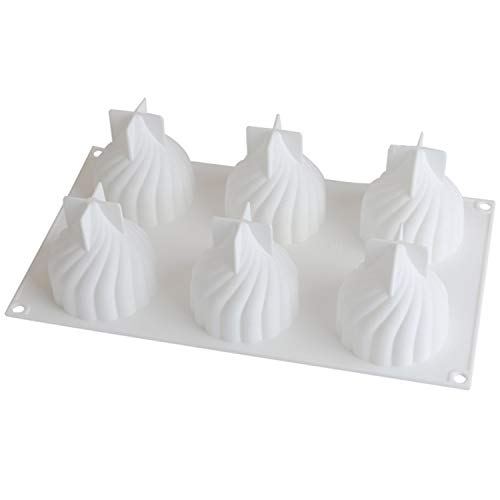 Gosear 6-griglia 3D Cipolla Stampo in Silicone Stampo per Candela Fai da Te Aroma Aroma polimero Argilla budino Mousse al Cioccolato Torta Fondente