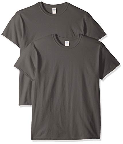 Gildan Men's Heavy Cotton Adult T-Shirt, 2-Pack, Charcoal, Medium