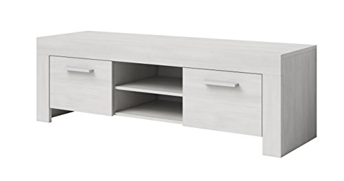 e-Com Mobile TV Comodino per TVPARIS 140 cm Rovere Nero