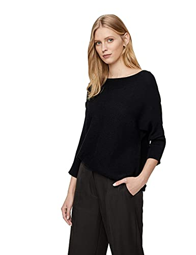 VERO MODA Damen Vmnora 3/4 Boatneck Blouse Noos Pullover, Schwarz (Black), XL