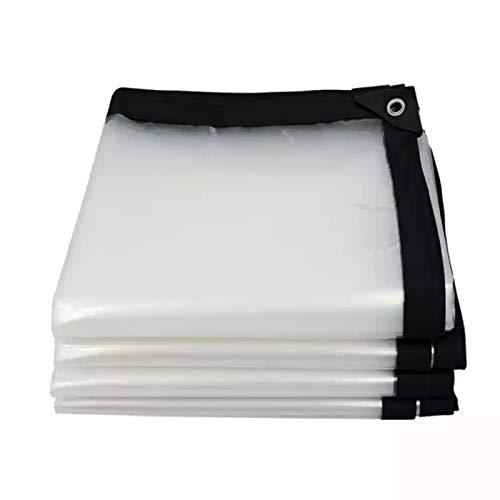FXPCYGZ Toldo Lona Alquitranada, Impermeables Protector Lona 0.12mm Transparente Anticongelante Cobertizo De Plantas Transmision De Luz Lonas Protector Solar Resistente Al Agua(2×5m/6.6×16.4ft)