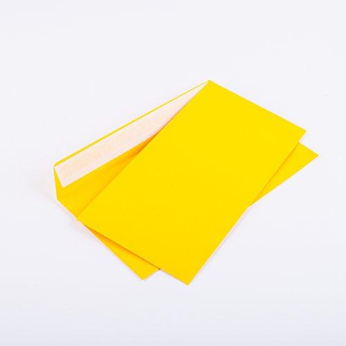Briefumschläge DIN lang C6/5 114x229 mm gelb 120 g/m² ohne Fenster haftklebend (Artikel: 204A) (100)