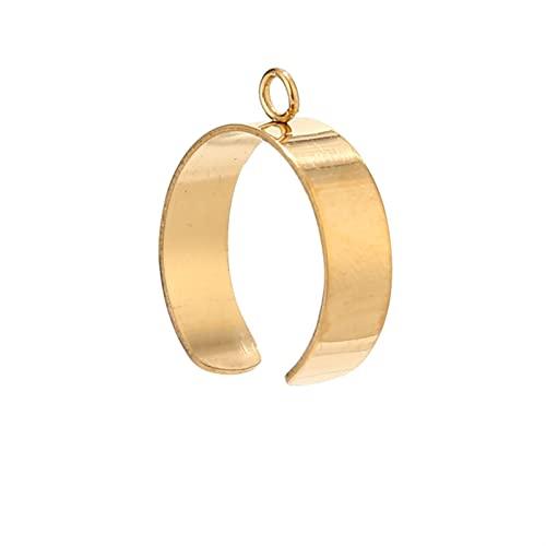 Anello in Acciaio Inossidabile da 3 Pezzi Tono Oro 6 mm / 10 mm di Larghezza con Anello di Salto da 4 mm per la creazione di Gioielli Fai da Te (Color : Gold, Size : 10mm)