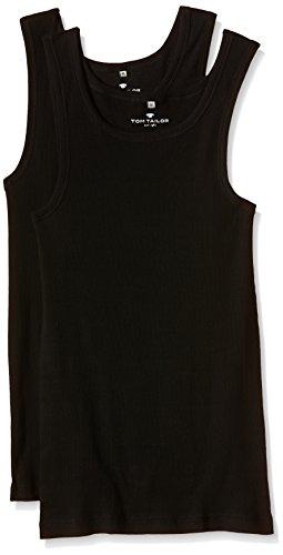 TOM TAILOR Underwear Herren Tanktop 2er Pack Unterhemd, Schwarz (Black 9000), XX-Large (Herstellergröße: XXL/8)