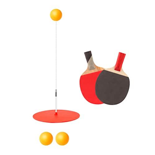 CLISPEED 1 Juego de Raqueta de Tenis de Mesa Profesional Antideslizante Agarre de Paleta de Pong con 3 Piezas de Bolas para Entrenamiento de Deportes Aire Libre en Interiores (Color