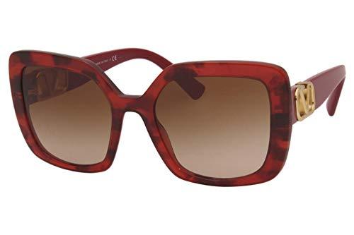 Occhiali da Sole Valentino V LOGO VA 4065 Red Havana/Brown Shaded 53/20/140 donna