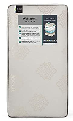 Beautyrest Platinum Cool Dawns Innerspring/Memory Foam Crib and Toddler Mattress ;Waterproof ; GREENGUARD Gold Certified ; Trusted Brand; Made in The USA