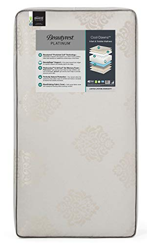Beautyrest Platinum Cool Dawns Innerspring/Memory Foam Crib and Toddler Mattress | Waterproof | GREENGUARD Gold Certified (Natural/Non-Toxic)