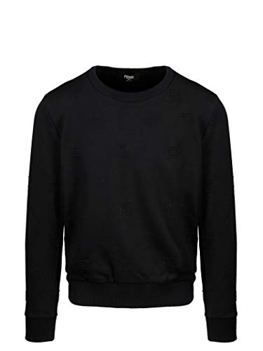 Fendi Luxury Fashion Herren FAF535ABTDF0GME Schwarz Baumwolle Sweatshirt | Frühling Sommer 20