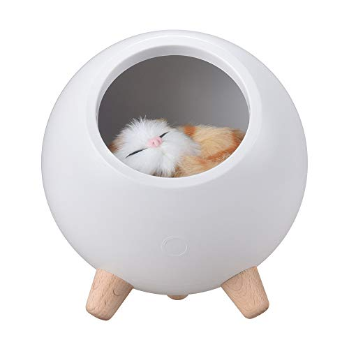 Cat House Lamp, Cute Kitty Little pet House Atmosphere Cat Light, USB Rechargeable Night Light Cat Lover Gifts Room Decor for Women Wife Mom Teen Girls (White)