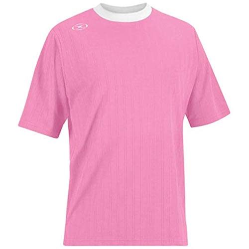 Tranmere Soccer Jersey - Adult Small, Pink/White