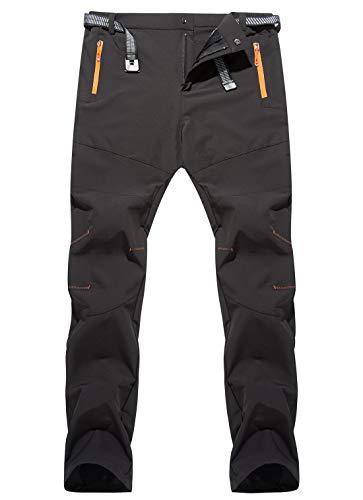 AIEOE Outdoorhose Herren Softshellhose Trekkinghose Sporthose für Wandern, Angeln, Klettern Schwarz Herstellergröße XL/EU 48
