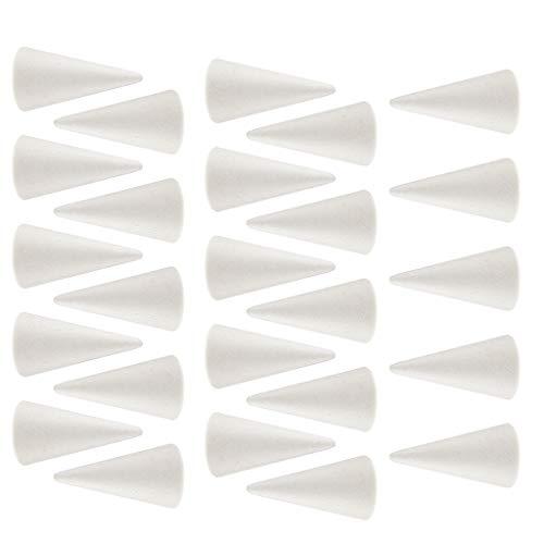 Harilla 20 STÜCK Kegelförmiger Styropor Styroporschaum für Die Modellierung von Kunsthandwerk