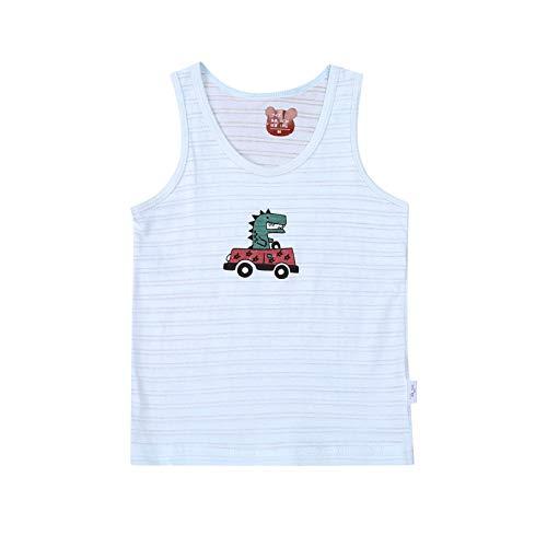 1 pieza 100% algodón ropa de verano transpirable chaleco camiseta sin mangas de dibujos animados trajes