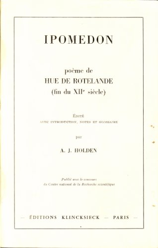 Download Ipomedon: Poeme (Bibliotheque Francaise Et Romane) 2252019077
