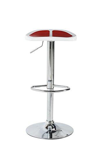 Alpisedia barkruk, ABS/chroom, rood/wit, 63,5 x 100 x 84,5 cm