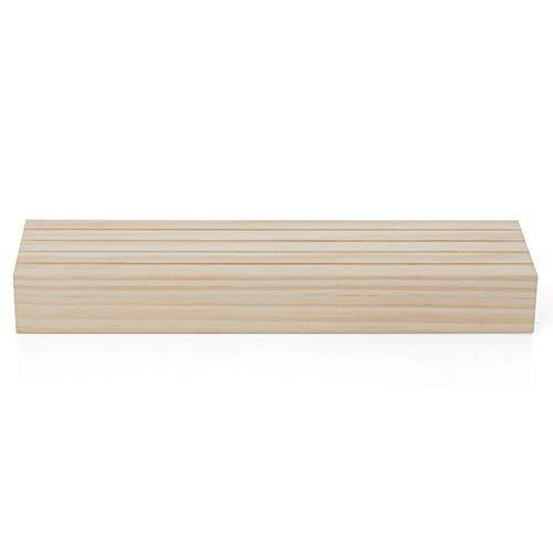 Kamenda Pendientes de madera maciza, soportes de cartón, estantes de almacenamiento de pendientes, bastidores de joyería de pendientes, accesorios de exhibición