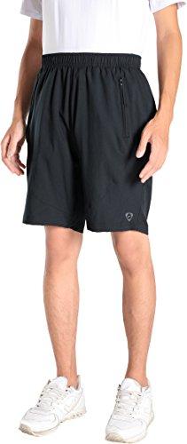 jeansian Homme Outdoor Quick Dry Casual Men Shorts De Sport LSS138 Black S