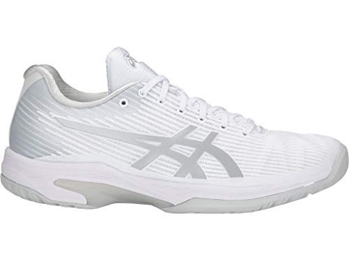 ASICS Women's Solution Speed FF Tennis Shoes, 9.5M, White/Silver
