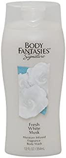 Parfums de Coeur Fresh White Musk Fantasy Moisture Infused Fragrance Body Wash for Women, 12 Ounce