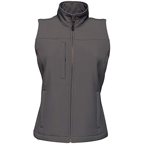 Regatta TRA790 74Y20L Dames Flux Warm Werkkleding Stretch Softshell Gilet Bodywarmer, Seal Grijs, Maat 20