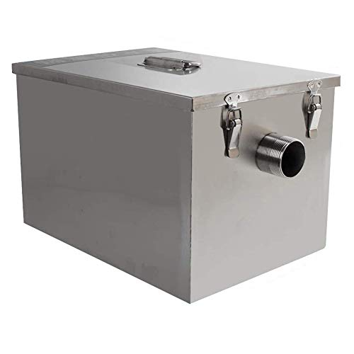 Commercial Grease Trap Interceptor Set Stainless Steel Detachable Design Wastewater Removable Baffles for Restaurant Kitchen