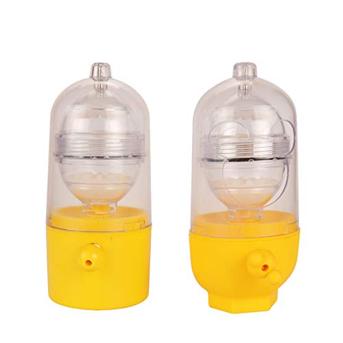 OMKMNOE Manual egg shaker, egg scrambler egg yolk protein mixer for the production hard boiled golden eggs,Yellow