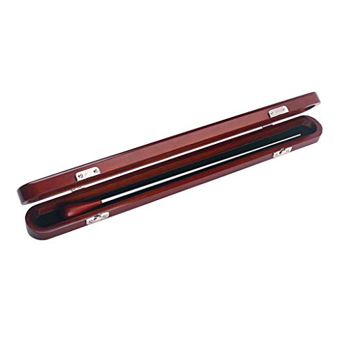 Alnicov Caja de madera roja del bastón de la música del conductor de madera con las piezas musicales hechas a mano del bastón