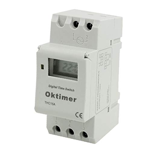 X-DREE THC15A Digital LCD alto rendimiento Power Weekly Programable esencial Switch Timer Switch bien hecho 220V AC(9f9-c1-63-215)
