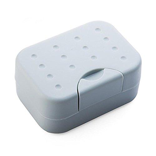 Sensail Porte-savon, Savon de voyage boîte Contenant Pour Douche Salle de bain (gris)