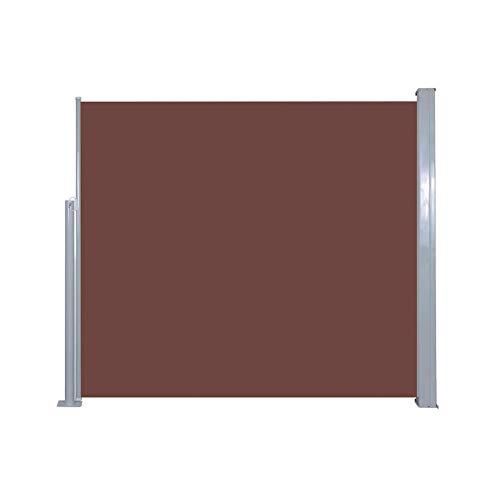 AYNEFY - Toldo multifunción para tienda de campaña, resistente al agua, lona ligera y plegable, 120 x 300 cm, color marrón