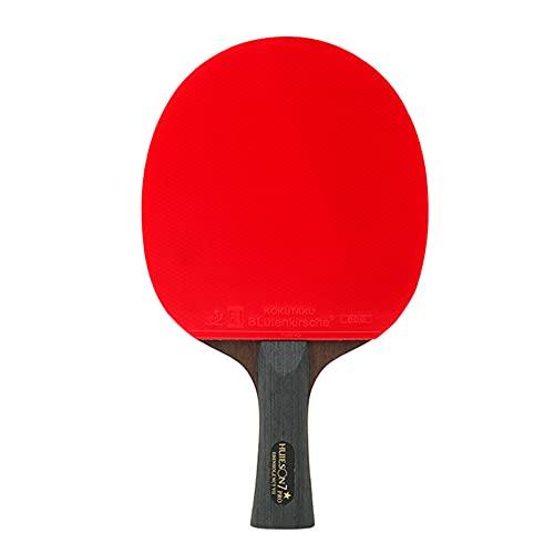 LINGOSHUN Raquetas de Ping Pong Ofensiva,Raquetas de Tenis de Mesa Profesional con Bolsa de Raqueta Portátil,Madera de 7 Capas / 7 Stars/Long handle