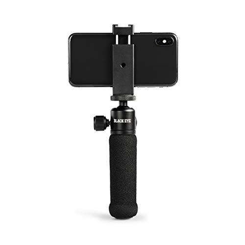 Black Eye Phone Filming Grip/Tripod Compatible with iPhone X XR XS and Smartphones Vlog Youtuber Record Live Steady Videos with Ease - FG001