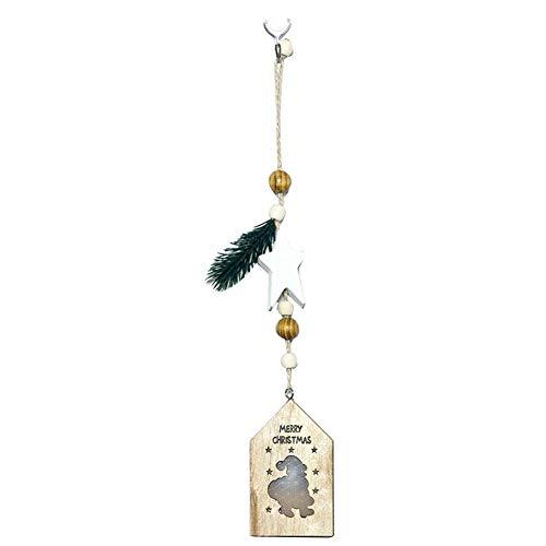 gaeruite Kreatives geführtes Helles Leuchtendes hölzernes Haus-Anhänger-Weihnachtsbaum-Dekorationen für die Weihnachtshängende Dekoration
