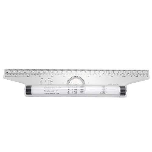 Fltaheroo Plantilla multiusos para transportador de medición, 30 cm