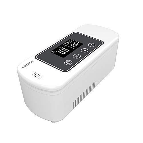 Enfriador de insulina recargable con pantalla LCD de 2 – 8 °C, portátil, con alto volumen, nevera con mini nevera para casa, coche, viaje, camping