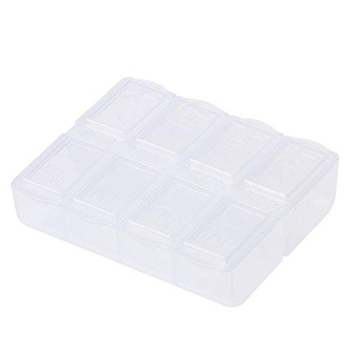 Lot de 8 boîtes de rangement en plastique Grids - Pour maison