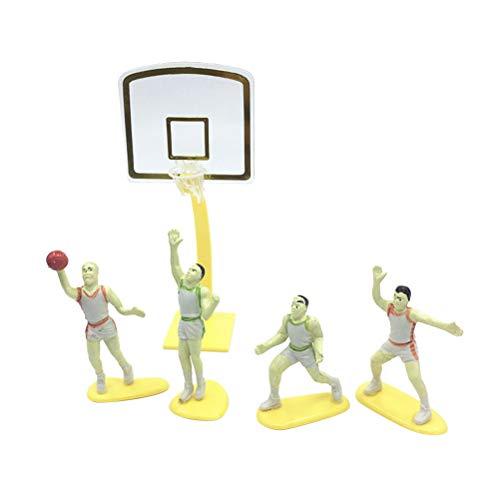 Amosfun Cake Topper Forma de Baloncesto de plástico con Forma de Canasta con decoración de aro de Baloncesto para Hornear en casa para la Fiesta de cumpleaños