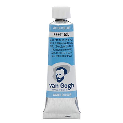 Van Gogh Watercolor Paint, 10ml Tube, Cerulean Blue Phthalo 535