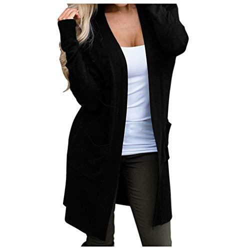 Reooly Lana Negra el Punto de la chaqueton Invierno Corta Prendas Cardigans...