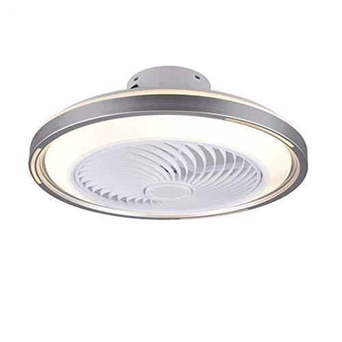 TATANE Invisible Techo Ventilador iluminación 72W Regulable LED Redondo Lámpara de Techo con Mando a Distancia Moderno Silenciar Ventilador Ligero para Sala Habitación Comedor Oficina Ø50CM,B
