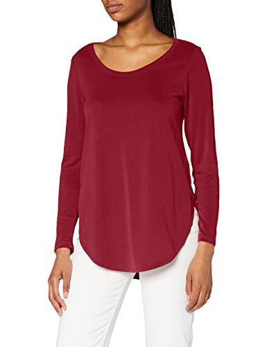 ESPRIT Damen 090EE1K342 T-Shirt, 600/BORDEAUX RED, XXL