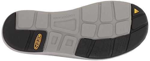 KEEN Men's Uneek Flat-M Sandal, Steel Grey/Magnet