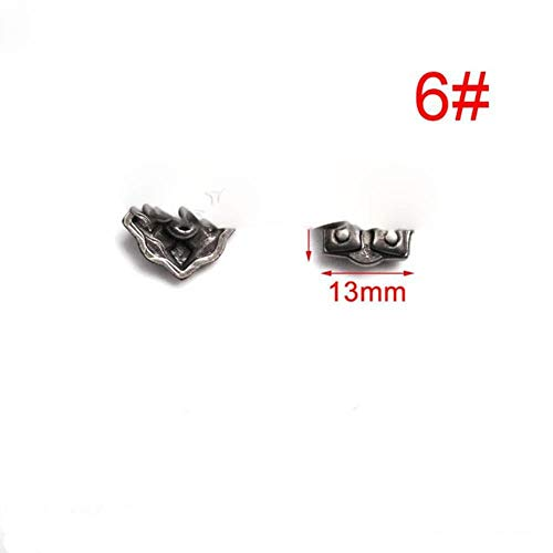 5 sets tinnen punk studs klinknagel spikes rock kledingstuk schoenentas huisdieren kraag diy lederen ambachtelijke onderdelen schild chinese knoop kruis, 6