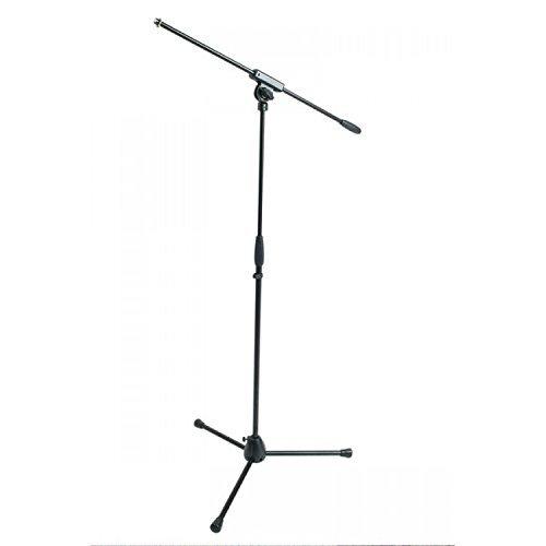 Proel RSM100BK - Asta professionale per Microfono con base tripoide in nylon e snodo in metallo stampato regolabile, Altezza, Nero, 950 x 1600 mm