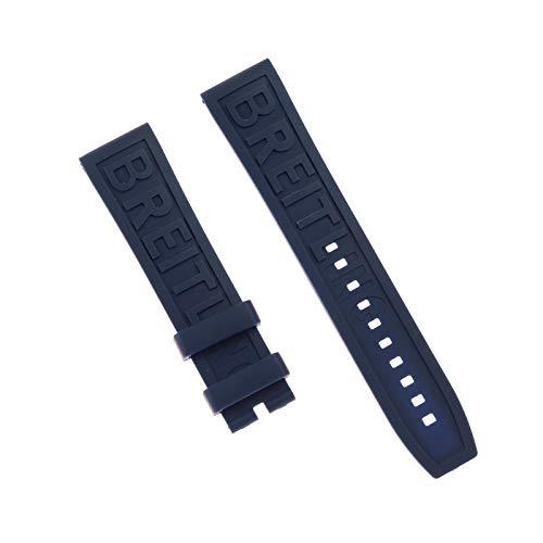 ROUHO Uhrensilikonband Atmungsaktiver Komfort Für Breitling Challenger Avenger 2 GMT-Blau 22mm
