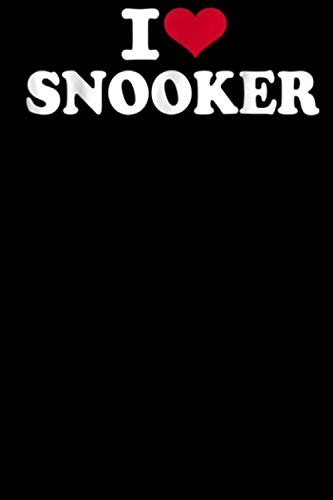 I love snooker: Bowling Gifts Notebook / Journal (6''x9''), Blank lined Notebook,110 Pages