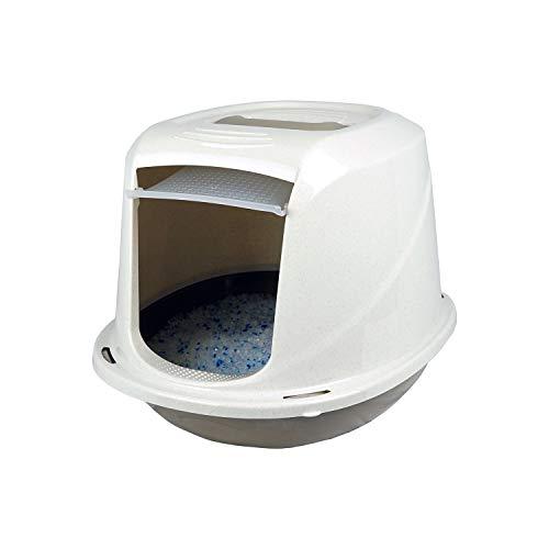 PATAM Lettiera per Gatti Coperta – Toilette per Gatti con Filtro Anti Odore 45 x 36 x 32,5 cm Comfort Mini Beige