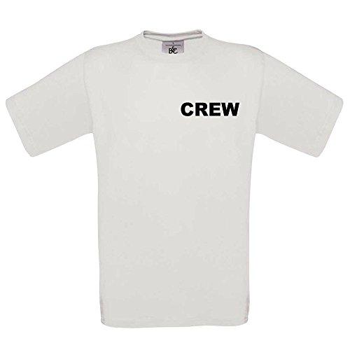 CREW T-SHIRT Weiß- Brust & Rücken bedruckt - Neu & OVP, Weiß, M